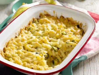 Quick Macaroni, Cheese and Veggie Bake