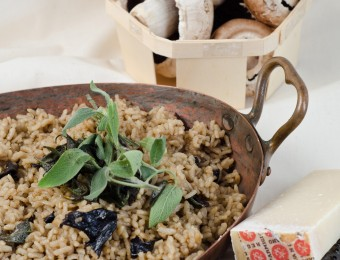 Wild Forest Mushroom Risotto with Sage Burnt Butter