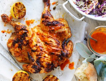 This stunning piri piri BBQ butterflied chicken recipe is the perfect chicken dish to serve to guests during your next summertime soiree.