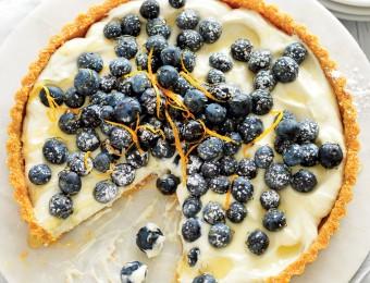 No-bake blueberry and ricotta tart
