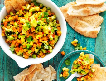 Spiced avocado and pumpkin salsa