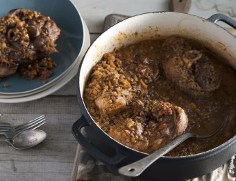 Slow Cooker Osso Bucco with Lentils
