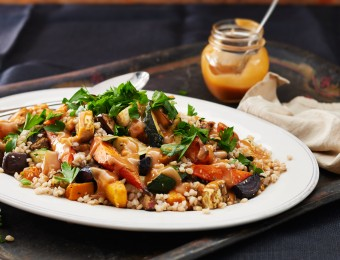Barley and Nutty Roast Vegetable Salad