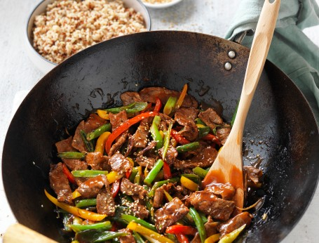 Chinese Beef and vegetable stir-fry recipe Celebrate Health
