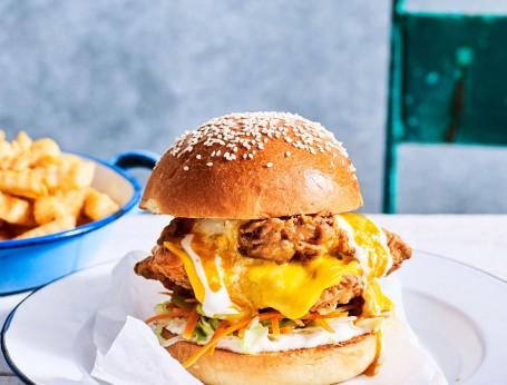 Best Buffalo Chicken Burger made from scratch