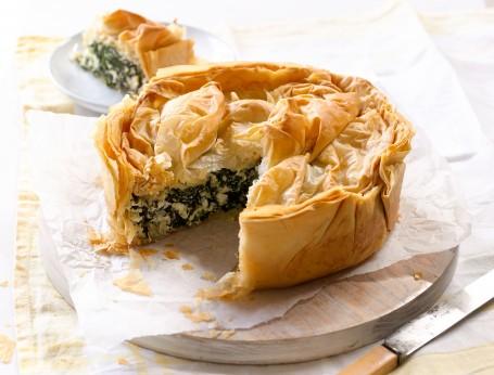 Cheese Greens Filo Pie
