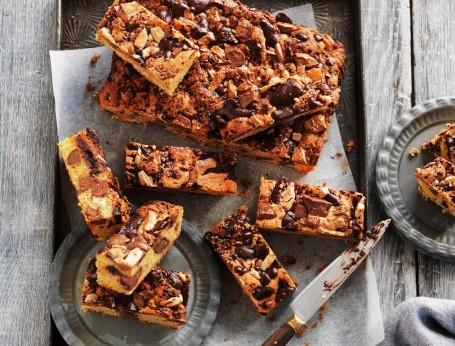 Ultimate triple chocolate cookie slice recipe