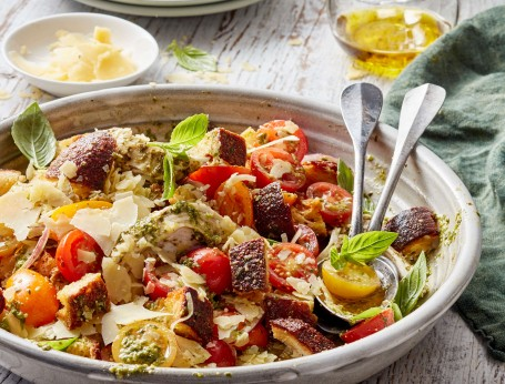Chicken Pesto Panzanella Salad recipe