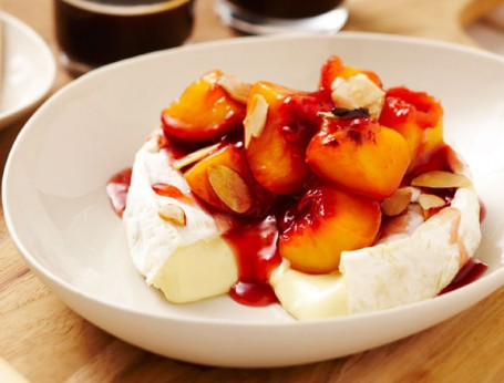Camembert with Peach and Clove Relish and Almonds