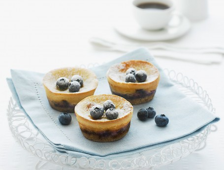 Mini Blueberry and Maple Cheesecakes