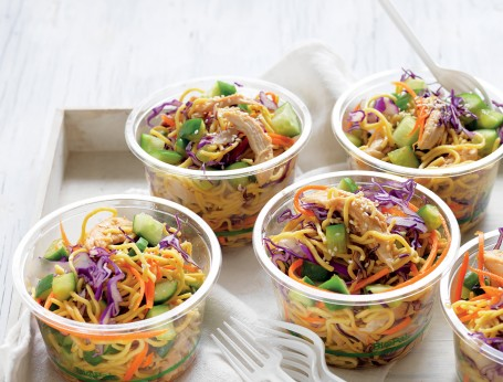 Easy chicken and noodle salad recipe