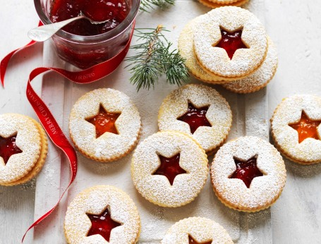 Jam Christmas Shortbread Biscuits