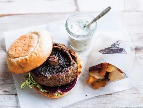 Mushroom lamb burger recipe