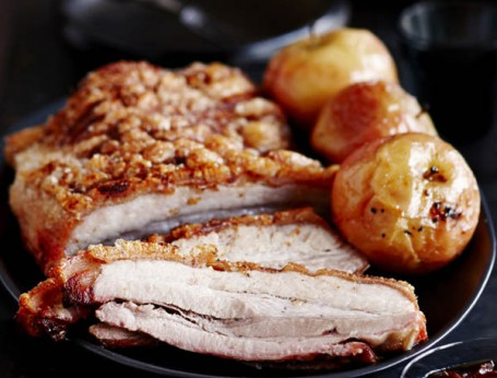 Roasted Pork Belly with Sweet Soy & Ginger Sauce