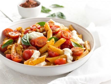 Penne with Ricotta & Summer Tomato Pesto