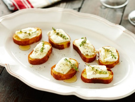 Goats' Cheese and Honey Crostini