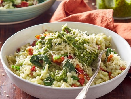 Vegetarian Pesto Risotto recipe