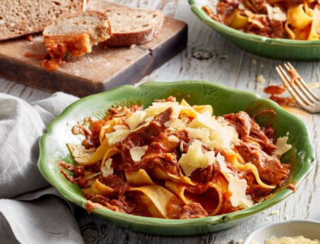 Slow cooked lamb shank ragu pappardelle recipe