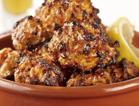 Spanish Chicken and Chorizo Meatballs with Garlic Aioli