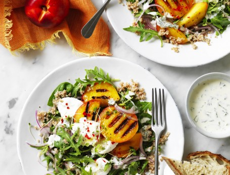 Grilled Yellow Nectarine Salad recipe