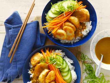 Chicken Nuggets recipe in sushi bowl