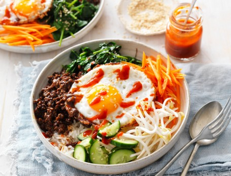 Hello fresh dinner with this easy Korean Beef Bibimbap recipe