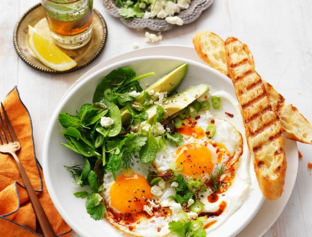 Turkish eggs with whipped yogurt World Egg Day 2020