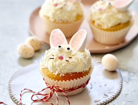 Cute and Easy Easter Bunny Cupcakes recipe