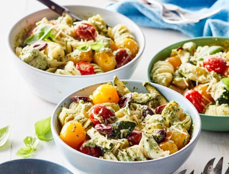 Pasta Salad with Pesto and Ricotta