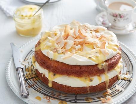 Vanilla Cake recipe with Passionfruit Curd recipe