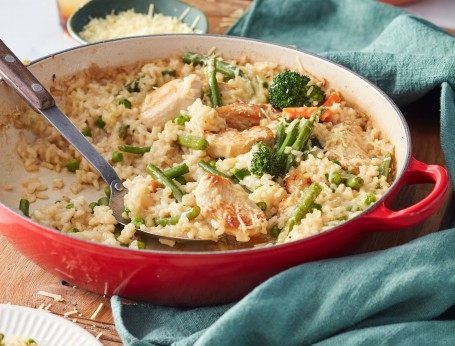 Oven-baked chicken and rice recipe