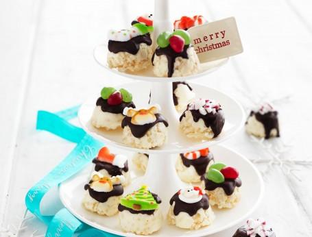 Traditional White Christmas recipe as mini Minty Treats