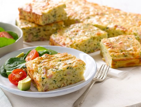 Zucchini and Bacon Slice Recipe