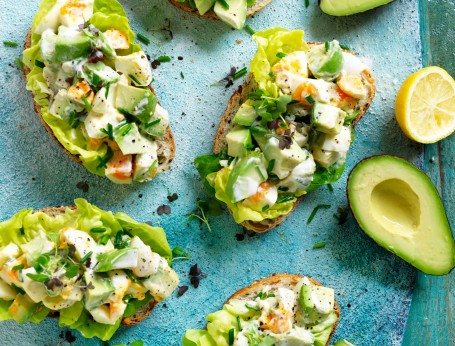 Avocado and egg salad