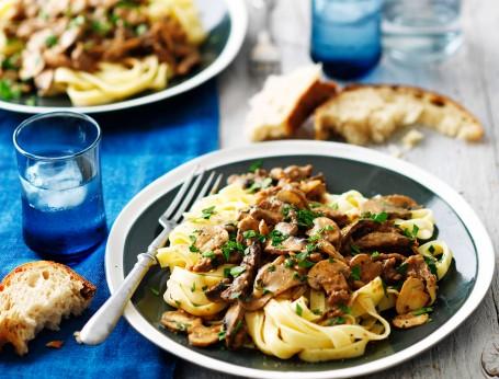 Traditional Stroganoff with mushrooms Recipe