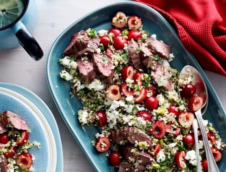 Lamb and cherry recipe