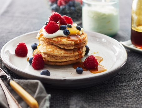 Wholemeal Peanut Butter Chia Pancakes