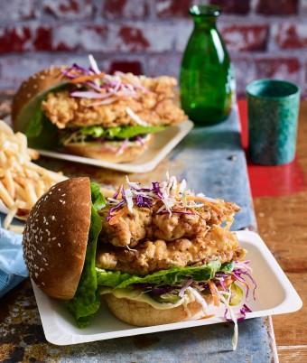 Street food recipes from around the world myfoodbook buttermilk fried chicken burger forumfinder Gallery