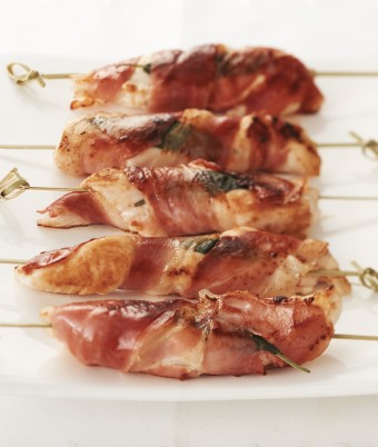 Chicken Saltimbocca Skewers