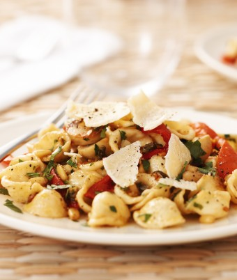 Orecchiette pasta with capsicum and caper brown butter