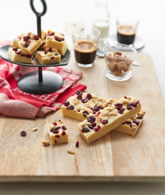 Cashew and Cranberry Fudge