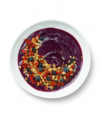 Acai Beet and Berry Smoothie Bowl made easy with the Breville Boss To Go