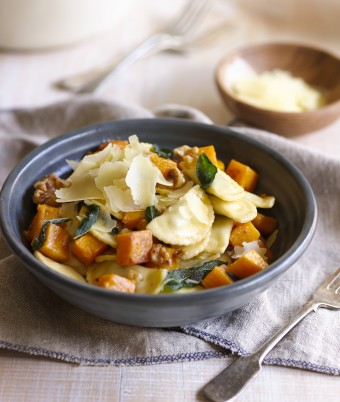 Spinach & Ricotta Agnolotti with Roast Pumpkin, Walnuts and Sage