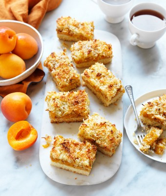 Jam Coconut Slice recipe
