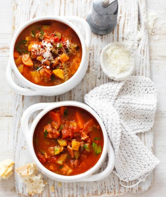 Hearty Veggie and Bacon Soup Recipe
