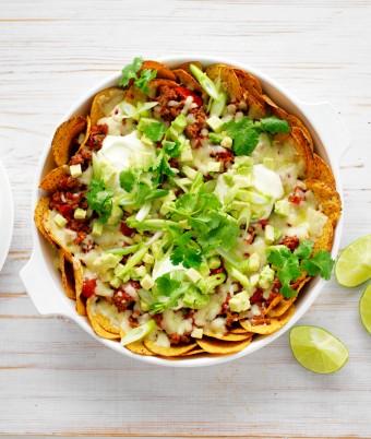 Easy Mexican Beef Nachos