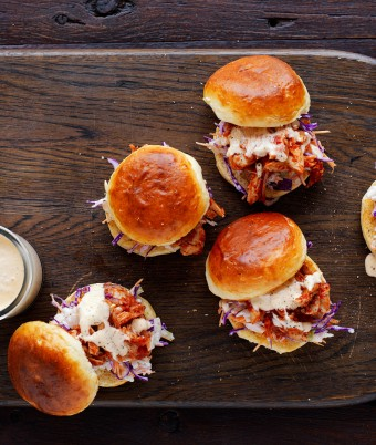 Pulled Chicken Sliders recipe