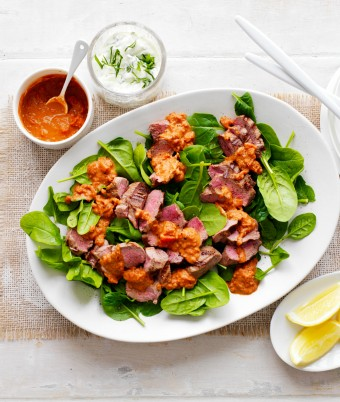 BBQ Lamb And Spinach Salad