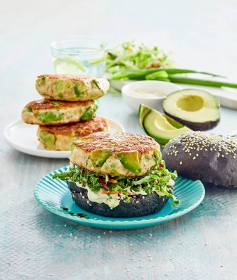 Chicken avocado burger recipe