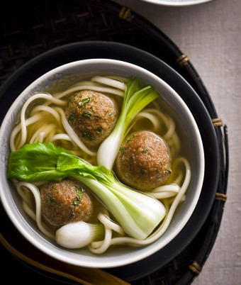 Asian Style Turkey Meatball Soup Recipe